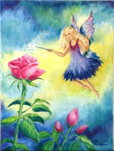 Fairy opening roses