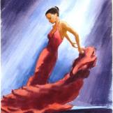 Flamenco dancer in red 2