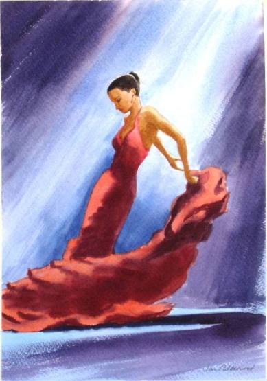 Flamenco dancer in red 2
