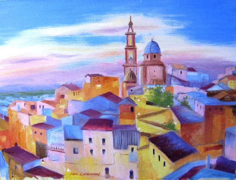 Colourful Spanish village