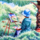 Artist working plein air