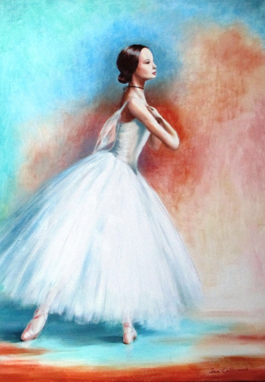 Oil painting of ballerina from Gisele.