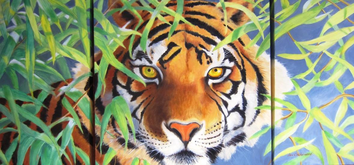 Tiger tryptich.