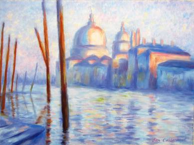 Hand-painted copy of Monet's Venice